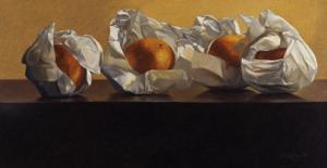 Oranges Wrapped in White Paper by Helen J^ Vaughn
