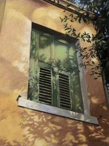 Shuttered Window in Italy, c.1996 by Helen J^ Vaughn