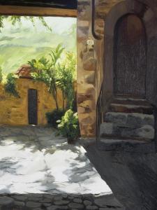 Tuscan Courtyard, Early Evening by Helen J^ Vaughn