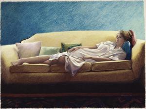 Woman Reclining on a Sofa by Helen J^ Vaughn