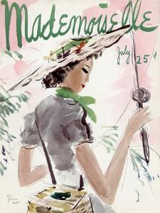 Mademoiselle Cover - July 1936 by Helen Jameson Hall