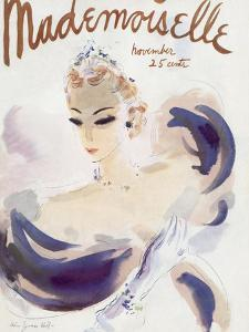 Mademoiselle Cover - November 1936 by Helen Jameson Hall