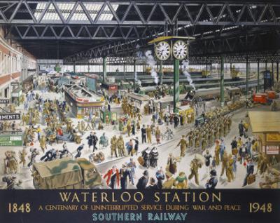 Waterloo Station, War, SR, c.1948