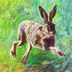 Joyful Hare, 2011 by Helen White