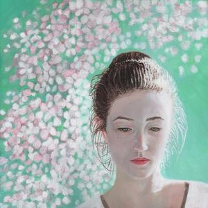 Portrait of a girl blossoming, 2015, by Helen White