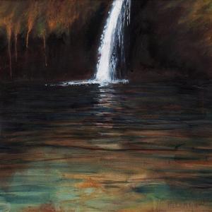 Waterfall III, 2016, by Helen White