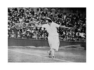 Helen Wills Playing Her First Wimbledon Final Against Kathleen Mckane, 1924