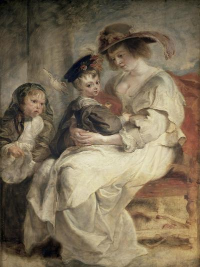 Helena Fourment and Her Children, Claire, Jeanne and Francois--Giclee Print