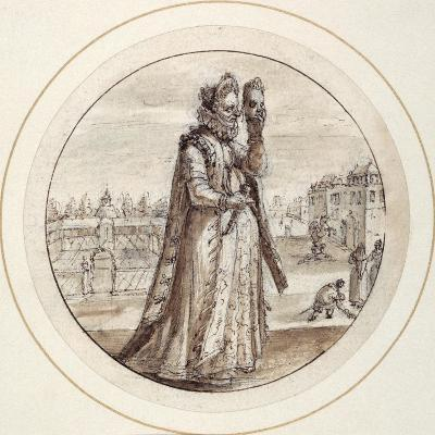 Helena with Mask, Early 17th Century-Crispin I De Passe-Giclee Print