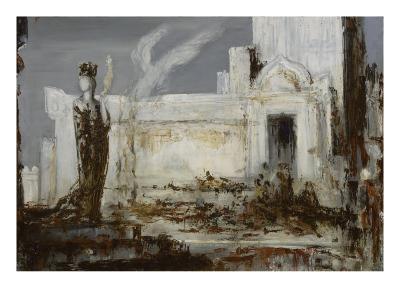 Hélène à la porte Scée-Gustave Moreau-Giclee Print