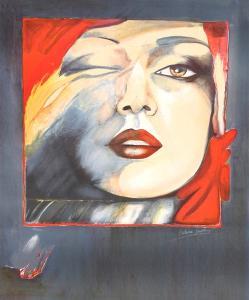 Self Portrait by Helene Guetary