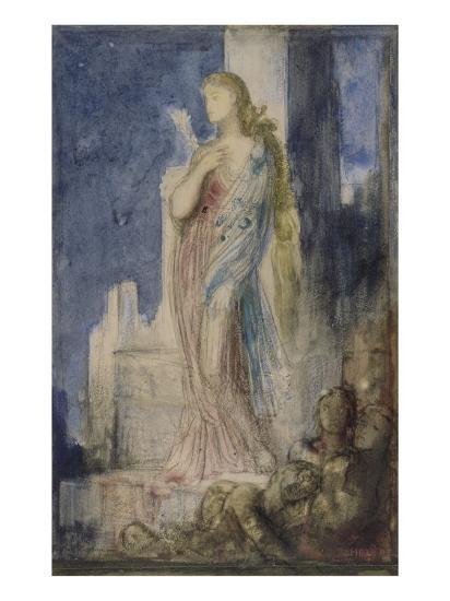 Hélène sur les remparts de Troie-Gustave Moreau-Giclee Print