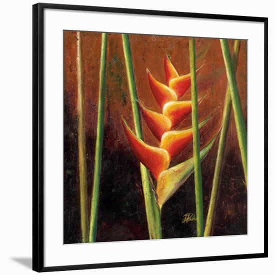 Heliconias En Naranja II-Patricia Pinto-Framed Premium Giclee Print