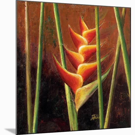 Heliconias En Naranja II-Patricia Pinto-Mounted Premium Giclee Print