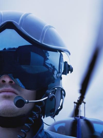 Helicopter Pilot-Bruno Ehrs-Photographic Print