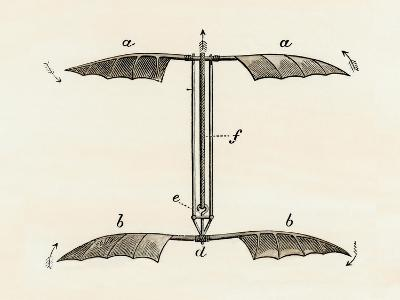 Helicopter Rotor Blades, or Screw-Model, by Penaud, 1872--Giclee Print
