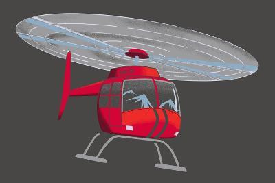 Helicopter--Giclee Print