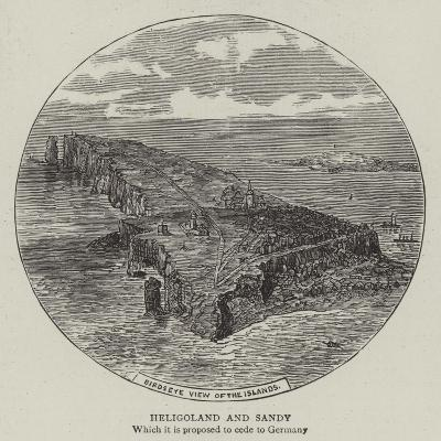 Heligoland and Sandy--Giclee Print