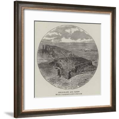 Heligoland and Sandy--Framed Giclee Print