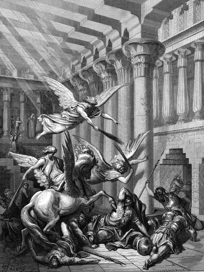 Heliodorus Attempting to Take Treasure from the Temple at Jerusalem, 1865-1866-Gustave Dor?-Giclee Print