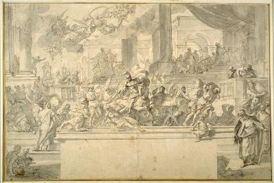 Heliodorus Driven from the Temple-Francesco Solimena-Giclee Print