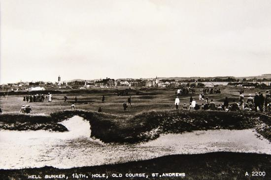 'Hell Bunker, 14th hole, Old Course, St Andrews', c1910-Unknown-Giclee Print