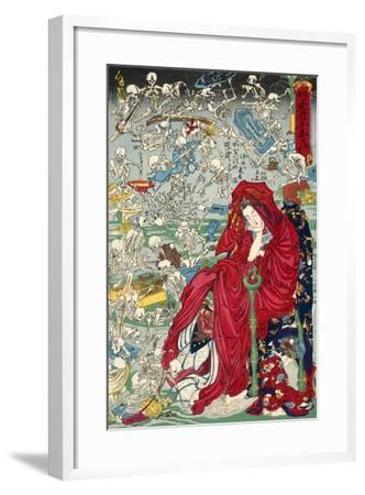 "Hell Courtesan, No. 9 in the Series ""Kyosai Rakuga""--Framed Giclee Print"