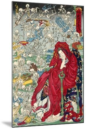 "Hell Courtesan, No. 9 in the Series ""Kyosai Rakuga""--Mounted Giclee Print"