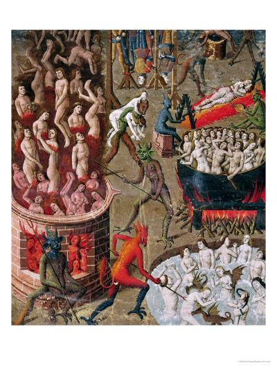 """Hell, from the French Translation of """"De Civitate Dei"""" by St. Augustine of Hippo--Giclee Print"""
