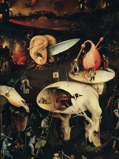 Hell, Right-Hand Panel of the Garden of Earthly Delights, C. 1503-04 Triptych (Detail)-Hieronymus Bosch-Giclee Print