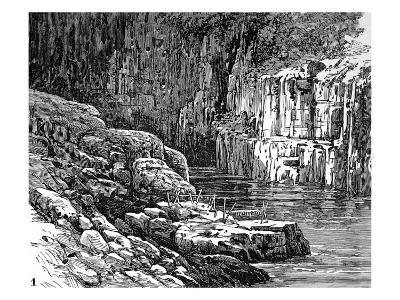 Hell's Gate Canyon, Fraser River, 1882--Giclee Print