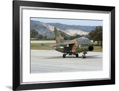 Hellenic Air Force Ta-7C Corsair Taxiing at Araxos Air Base-Stocktrek Images-Framed Photographic Print