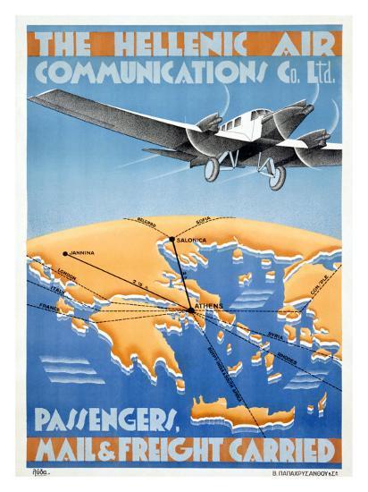 Hellenic Air-Lyda-Giclee Print