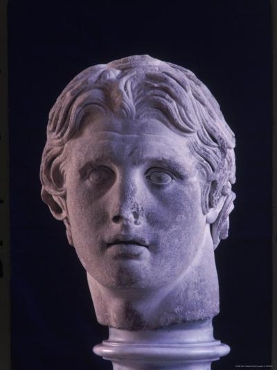 Hellenic Sculpture of Alexander the Great from the Musee D'Antiquities de Stambul-Dmitri Kessel-Photographic Print