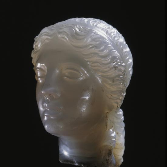 Hellenistic alabaster female head, Greece, 3rd century BC-Werner Forman-Photographic Print