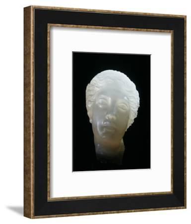 Hellenistic alabaster female head, Greece, 3rd century BC-Werner Forman-Framed Photographic Print