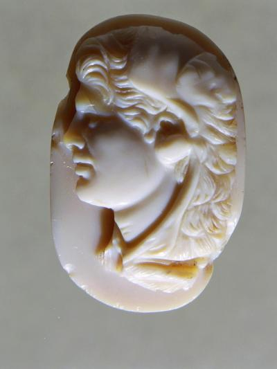Hellenistic Cameo in Agate with Head of Alexander the Great, 4th-1st Century BC--Giclee Print