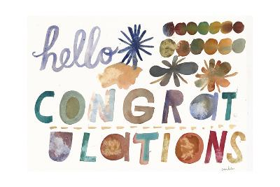 Hello and Congratulations Lettering--Art Print