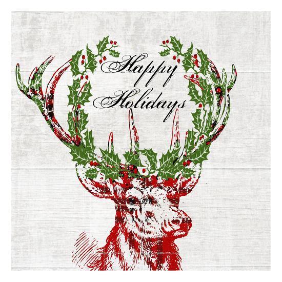 Hello Deer 3-Sheldon Lewis-Art Print