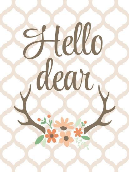 Hello Deer-Tamara Robinson-Art Print