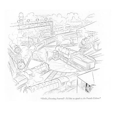 """Hello, Evening Journal? I'd like to speak to the Puzzle Editor."" - New Yorker Cartoon-Alain-Premium Giclee Print"