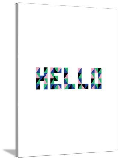 Hello Geo-Ashlee Rae-Stretched Canvas Print