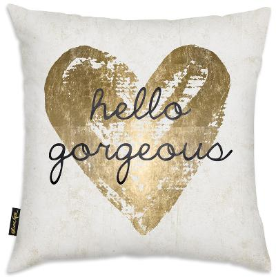 Hello Gorgeous Throw Pillow--Home Accessories