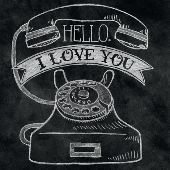 Hello I Love You Chalk-Mary Urban-Art Print