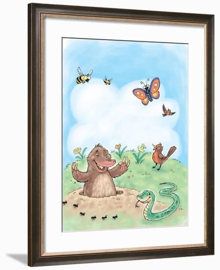 Hello, Spring! - Turtle--Framed Giclee Print