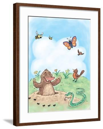 Hello, Spring! - Turtle--Framed Giclee Print