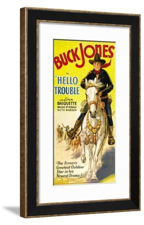 Hello Trouble--Framed Art Print
