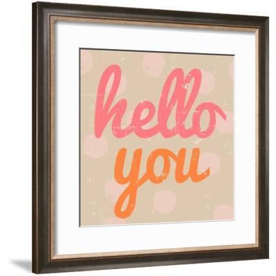 Hello You Polka Dot-Lola Bryant-Framed Art Print