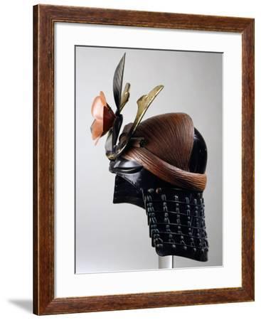 Helmet Decorated with Camellia, Samurai Armor, Edo Period--Framed Giclee Print