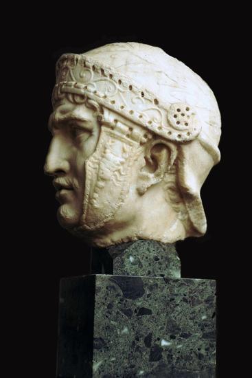 Helmeted head of a Roman soldier, c.1st century. Artist: Unknown-Unknown-Giclee Print